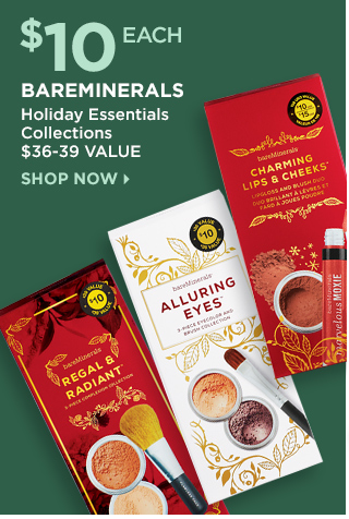 $10 Each bareMinerals Holiday Essentials Collections, Shop Now