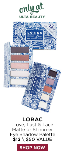 Lorac | Love, Lust and Lace Matte or Shimmer Eye Shadow Palette $12, Shop Now