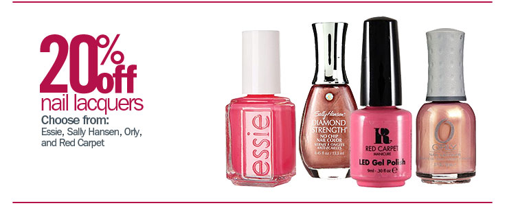 20% off Nail Lacquers