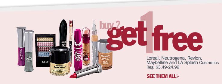 Buy 2 Get 1 FREE Cosmetics
