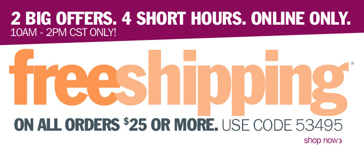 4 HOUR ONLY! Free Shipping